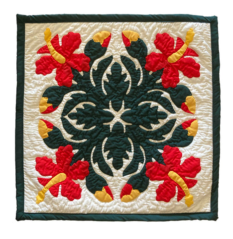 Hawaiian Quilt Christmas Pillow Cover