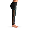 Mesh Pocket Leggings - Midnight Teal & Purple