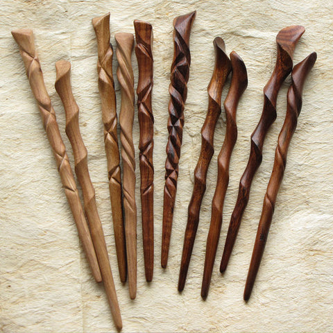 Hawaiian Hardwood Hairsticks
