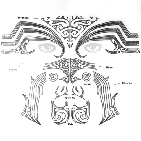 Maori Moko Temporary Tattoo