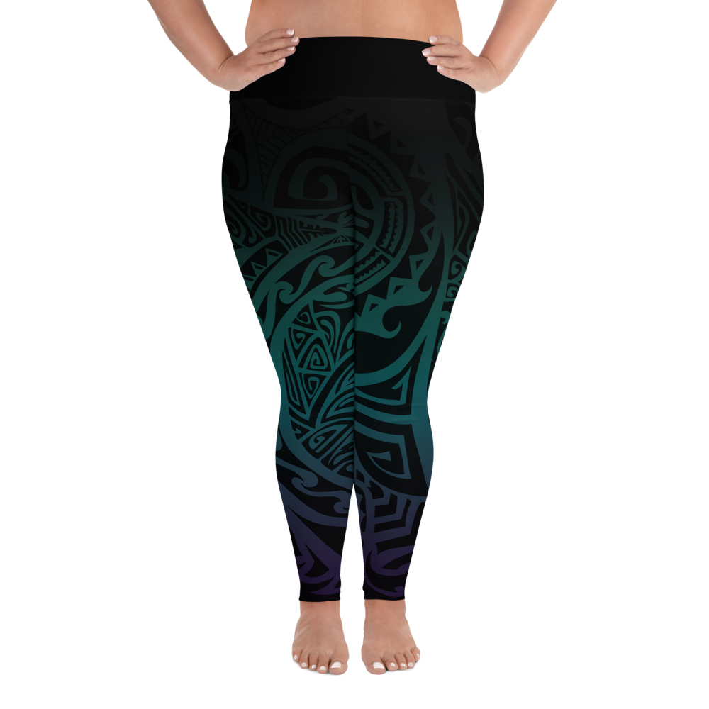 Smudge and Crystals All-Over Print Plus Size Leggings
