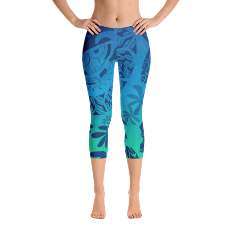 Capri Leggings - Tatou Enata - Teahupo'o Reef