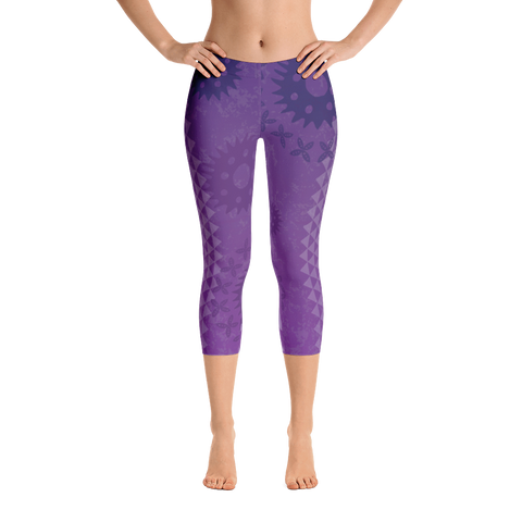 Capri Leggings - Kapa - Passion Fruit Flower