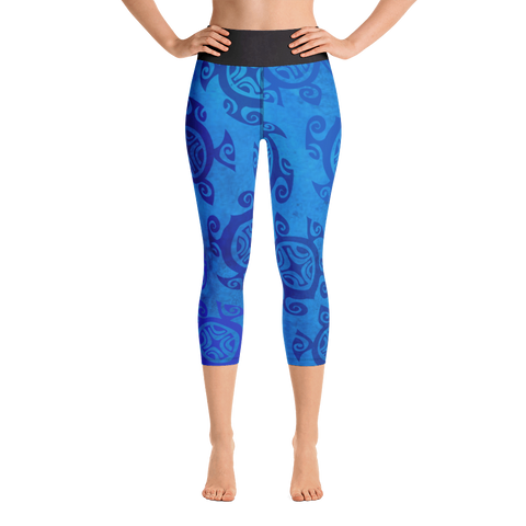 Yoga Capri Leggings - Honu Kai