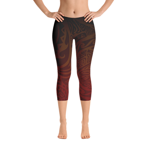 Capri Leggings - Tatou V - Tehani's Fire