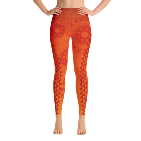 Yoga Leggings - Kapa - Lava Flow