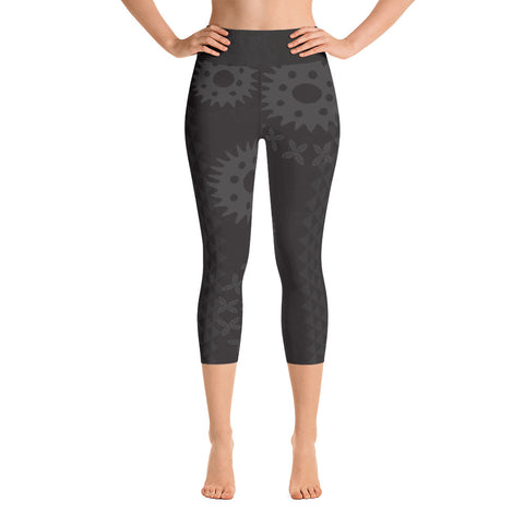 Yoga Capri Leggings - Kapa - Lava Rock