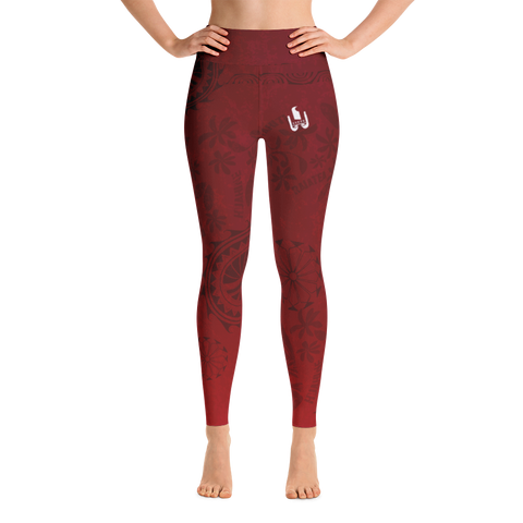 Yoga Leggings - Tahiti - Ia Orana Red