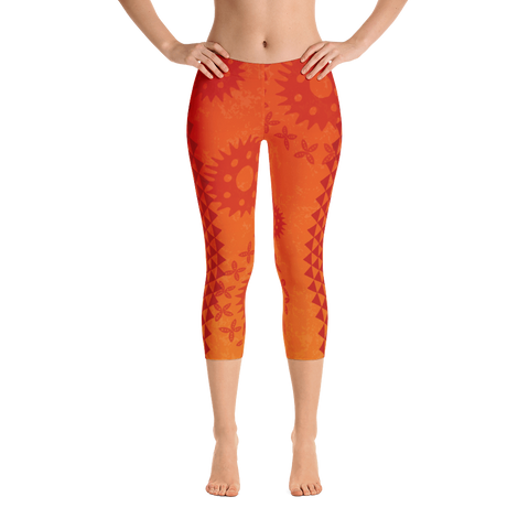 Capri Leggings - Kapa - Lava Flow
