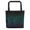 Tote Bag - Tatou V - Midnight Teal & Purple