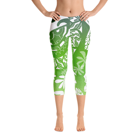 Capri Leggings - Tatou Enata - Huahine Rainforest
