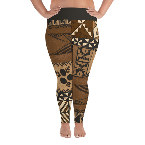 All-Over Print Plus Size Leggings - Tonga