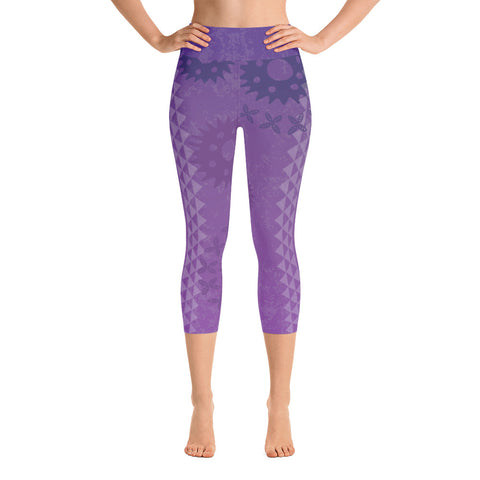 Yoga Capri Leggings - Kapa - Passion Fruit Flower