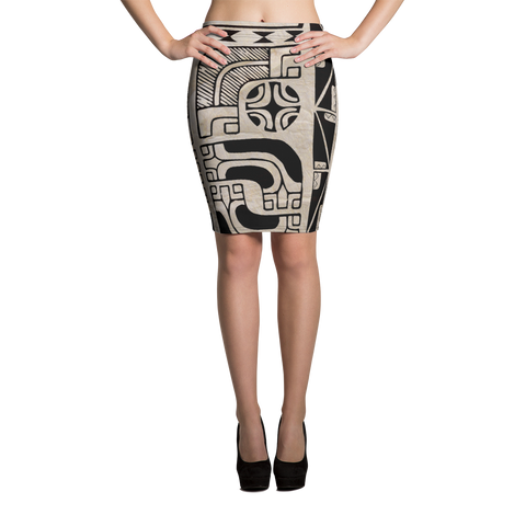 Pencil Skirt - Tahiti Ahu