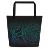 Beach Bag - Tatou V - Midnight Teal & Purple