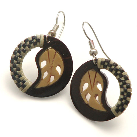 Pago Pago Coco Earrings - Samoa Leaf
