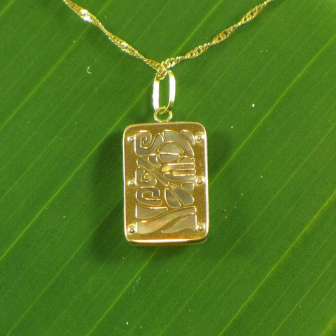 Moana Gold & Mother of Pearl Pendant