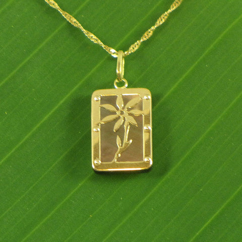 Tehani Gold & Mother of Pearl Pendant