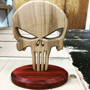 Custom Wood Punisher Skull