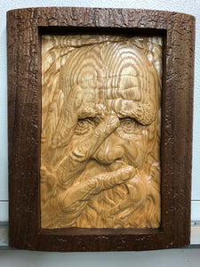 Custom Wood 3D Face Carving