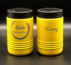 Tumbler can coozies with your graphic, logo, wording, etc.