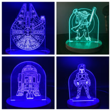 Load image into Gallery viewer, LED Acrylic Light-Star Wars