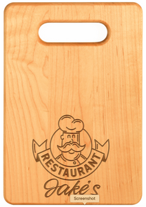 Engraved Cutting Boards- Maple Hard Wood .