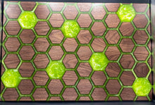 Load image into Gallery viewer, Hexagon Wood and epoxy wall art