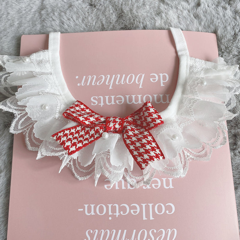 Hello Baby Bowknot Lace Hand-Made Collar