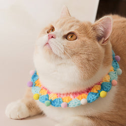 Colorful Bubble Gum Hand-Made Collar