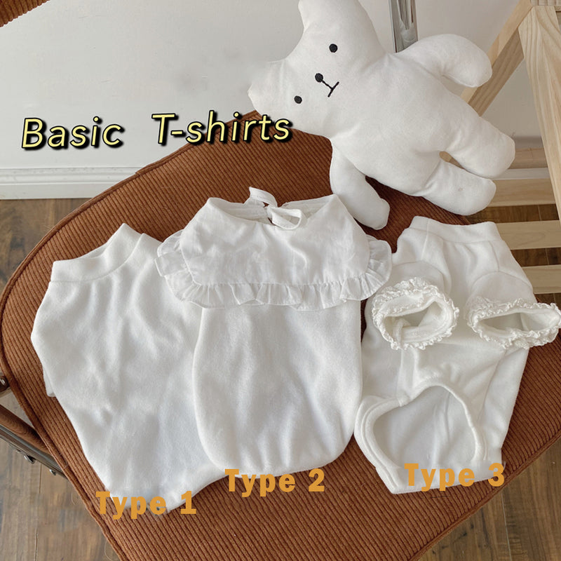 Sweet Basic White T-shirts