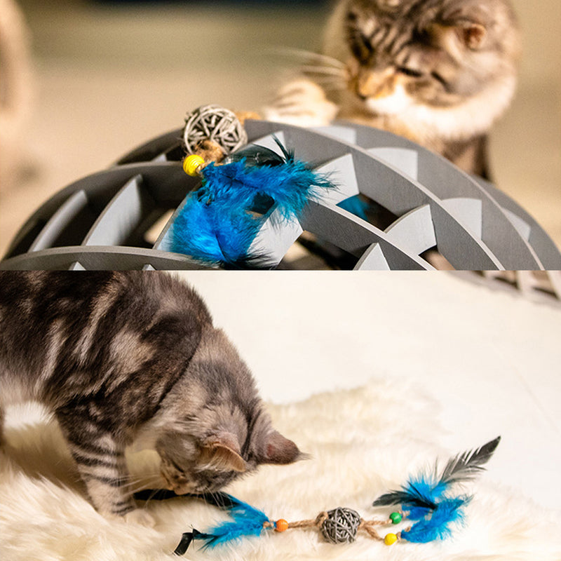 Cute Animal Feather&Bell Withe Toys