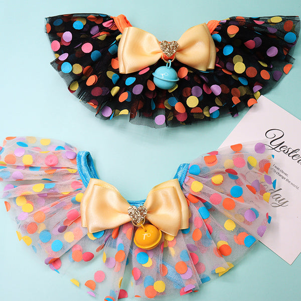 Colorful Dots Tulle Hand-Made Collar