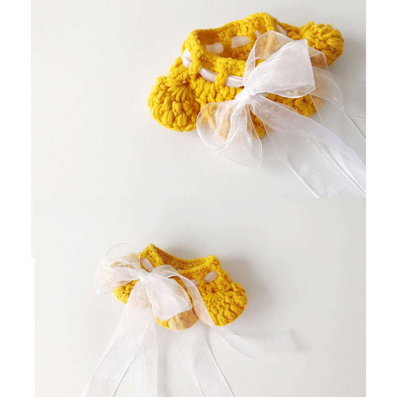 Dreaming Of You Yellow Knit Hand-Made Collar
