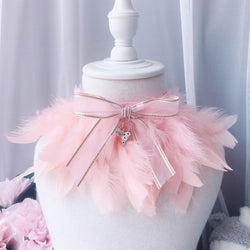 Sweet As Can Be Pink Feather Hand-Made Collar