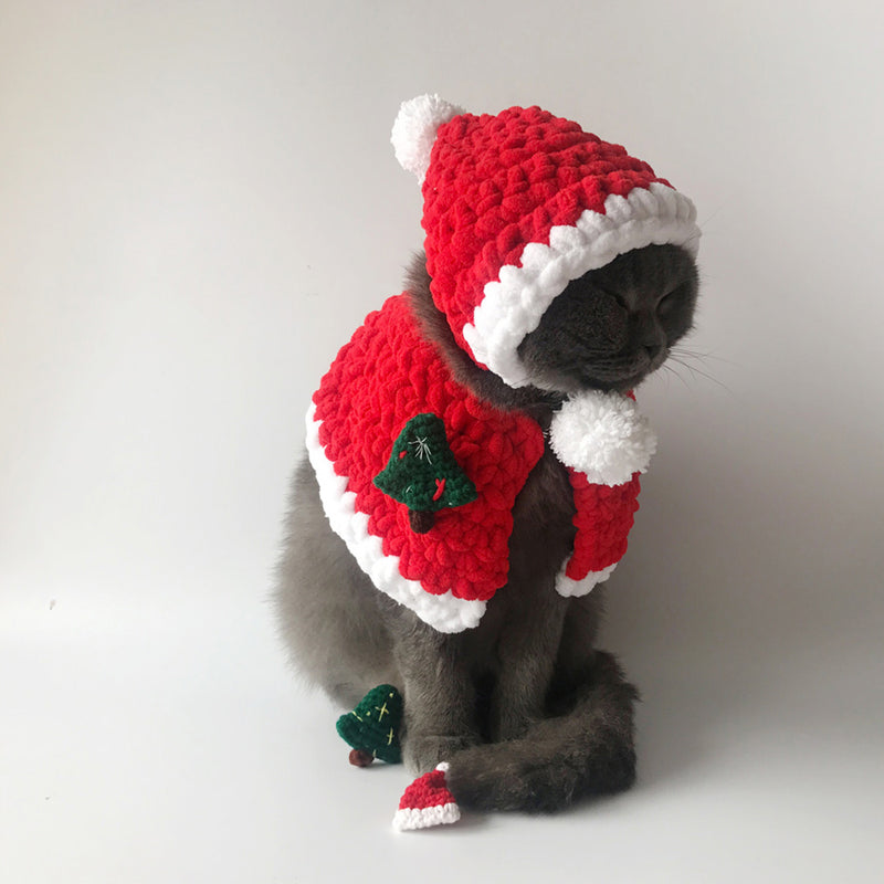 Santa Claus Christmas Cape+Hat+3 Brooches