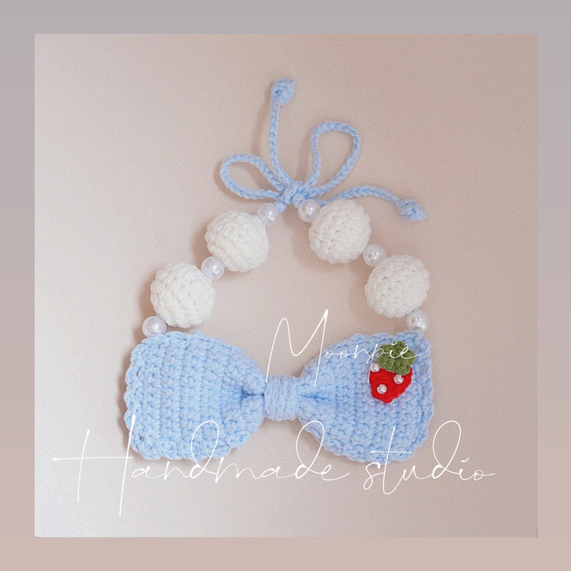 Moonpie Bowknot Pearl Hand-Made Collar