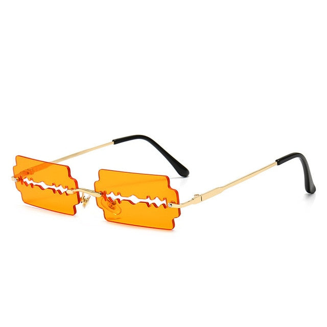 Rimless Rectangle Designer Sunglasses