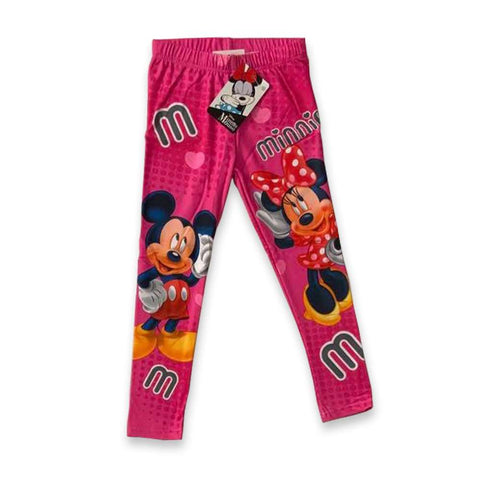Leggings lungo Bimba Disney Mickey e Minnie Mouse Fucsia