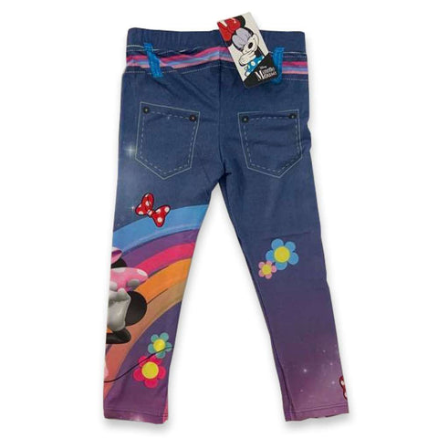 Leggings Bimba Disney Minnie Mouse Blu Denim