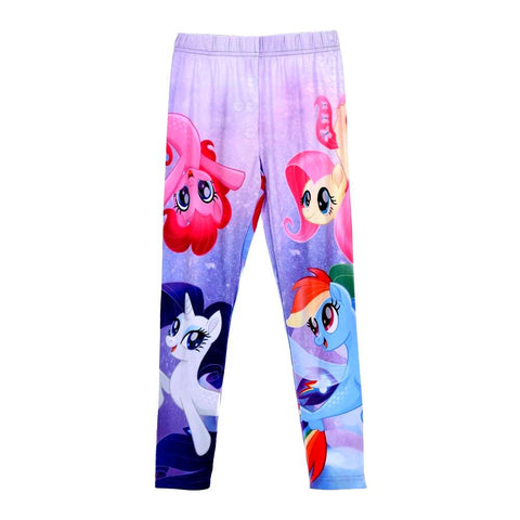 Leggings lungo Bimba My Little Pony Blu | Pinkie Pie Rainbow Dash Rarity Fluttershy