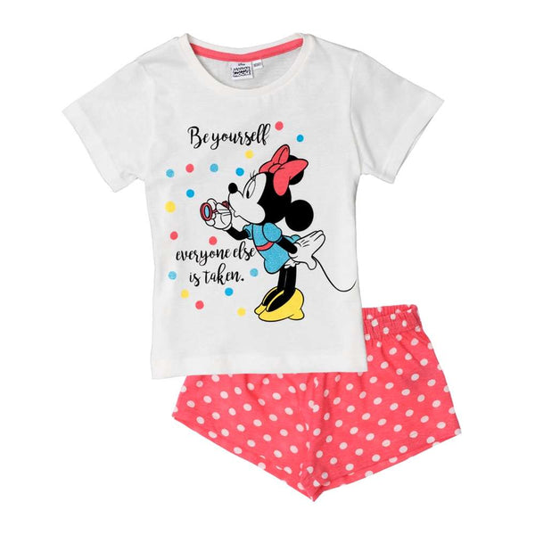 Pigiama corto Disney Minnie Mouse Bianco/Rosa