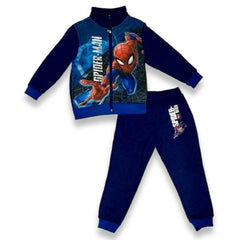 Tuta con zip Bimbo Spiderman Marvel Blu