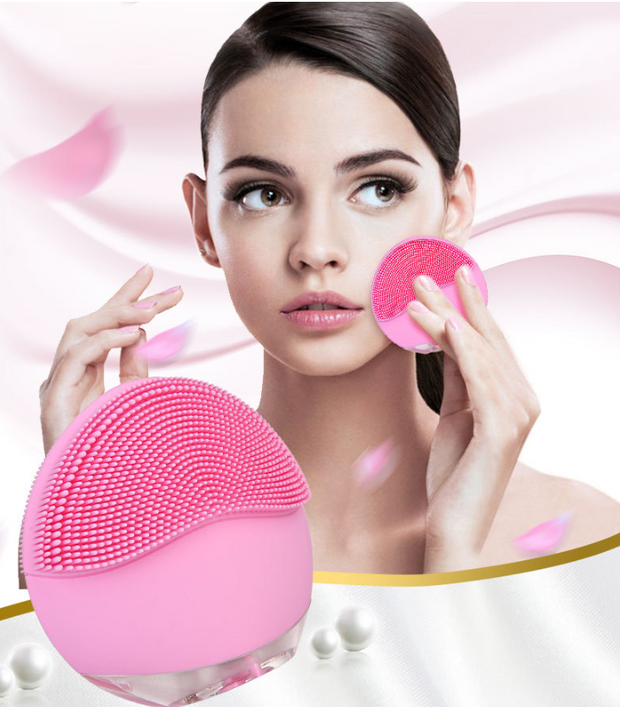 Cleansing Brush Silicone Face Electric Facial Cleanser Skin Deep Washing Massage