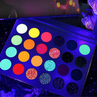 Blacklight Pigment Fluorescent Eye Shadow Palette