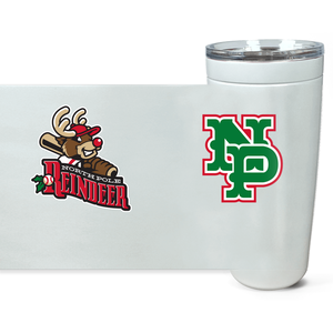 North Pole Reindeer Logo Viking Tumbler