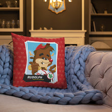 Load image into Gallery viewer, Rudolph Baseball Card Premium Pillow