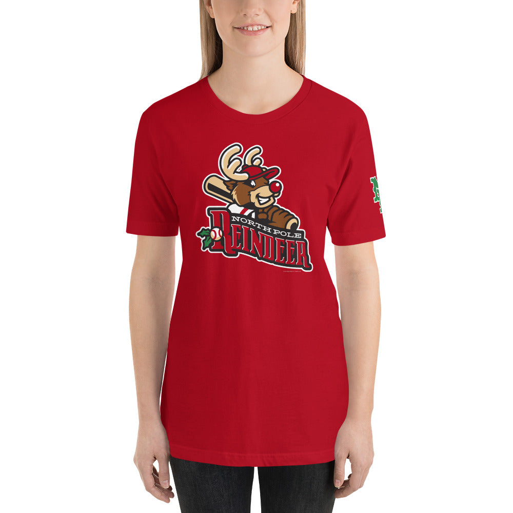 North Pole Reindeer logo Short-Sleeve Unisex T-Shirt