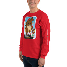 Load image into Gallery viewer, Rudolph Baseball Card Long Sleeve T-Shirt