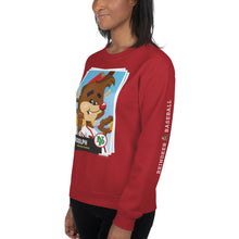 Load image into Gallery viewer, Rudolph Baseball Card Unisex Sweatshirt